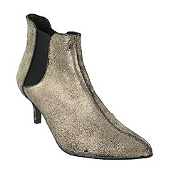 Marta Jonsson - Gold mid heel ankle boot