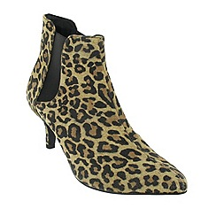 Marta Jonsson - Leopard mid heel ankle boot