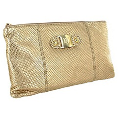 Marta Jonsson - Limited edition gold leather clutch bag