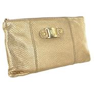 Limited edition gold leather clutch bag