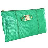 Limited edition green leather clutch bag