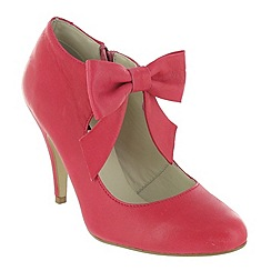 Marta Jonsson - Fuxia court shoe with a bow