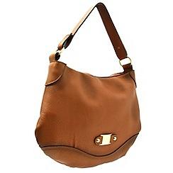 Marta Jonsson - Tan leather handbag with MJ detail