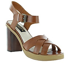 Marta Jonsson - Tan women's sandal with a platform