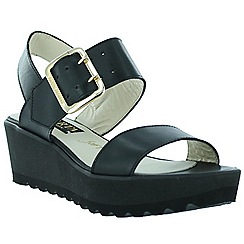 Marta Jonsson - Black women's wedge sandals