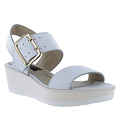 Marta Jonsson - White women's wedge sandals