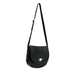 Marta Jonsson - Black leather crossbody handbag with MJ detail