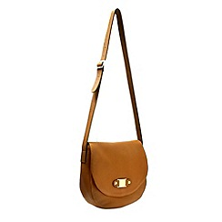 Marta Jonsson - Tan leather crossbody handbag with MJ detail
