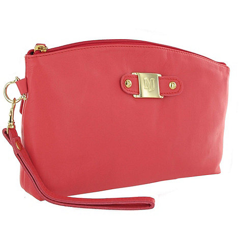 Marta Jonsson - Coral leather clutch bag