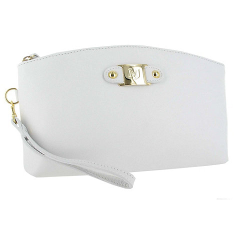 Marta Jonsson - White Leather Clutch