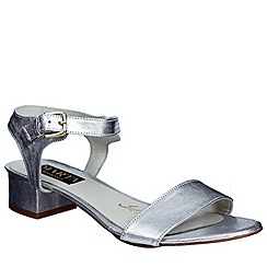 Marta Jonsson - Silver womens sandal with buckle