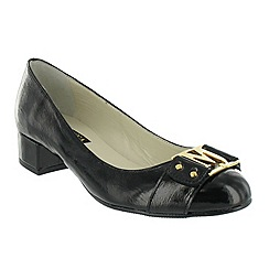 Marta Jonsson - Black court shoe with gold MJ detail