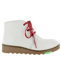 Marta Jonsson - White lace up northern light boots