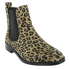 Marta Jonsson - Leopard ankle boot with a golden stud