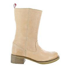Marta Jonsson - Tan women's mid calf boots