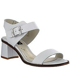 Marta Jonsson - White women's block heel sandal