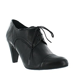 Marta Jonsson - Black women's high heeled lace up shoe