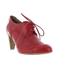 Marta Jonsson - Red women's high heeled lace up shoe