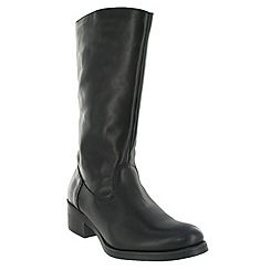 Marta Jonsson - Black mid calf boot with a block heel