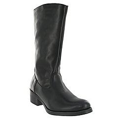 Marta Jonsson - Black mid calf boot with a block heel