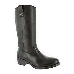 Marta Jonsson - Brown mid calf boot with a block heel