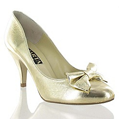 Marta Jonsson - Gold Leather Court Shoe