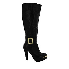 Marta Jonsson - Black women's knee high boot