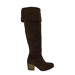 Marta Jonsson - Brown women's knee high boots