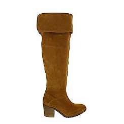 Marta Jonsson - Tan women's knee high boots