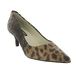 Marta Jonsson - Brown court shoe with leopard print