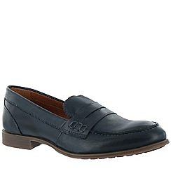 Marta Jonsson - Blue women's leather loafers