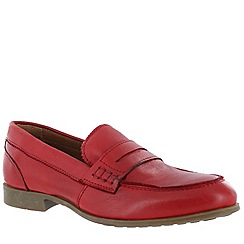 Marta Jonsson - Red women's leather loafers