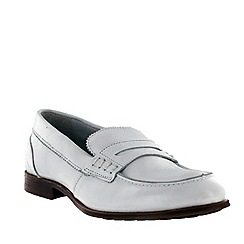 Marta Jonsson - White women's leather loafers