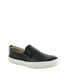 Marta Jonsson - Black womens slip on loafer