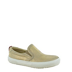 Marta Jonsson - Gold womens slip on loafer