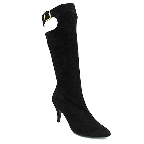 Marta Jonsson - Black suede knee high boot