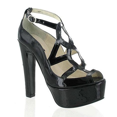 Marta Jonsson - Black Patent Leather Platform Sandal