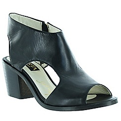 Marta Jonsson - Black women's sandals with chunky heel