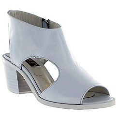 Marta Jonsson - White women's sandals with chunky heel