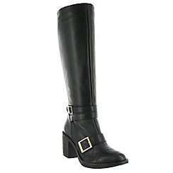 Marta Jonsson - Black knee high boot with buckles