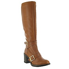 Marta Jonsson - Tan knee high boot with buckles