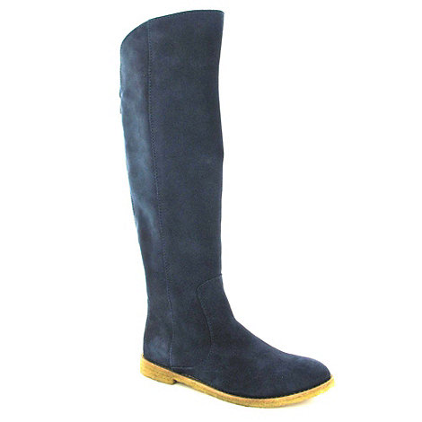 Marta Jonsson - Navy Suede Knee High Boot