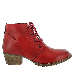 Marta Jonsson - Red women's ankle boots