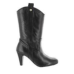 Marta Jonsson - Black women's mid calf boots