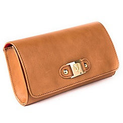Marta Jonsson - Tan leather clutch bag
