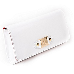 Marta Jonsson - White leather clutch bag
