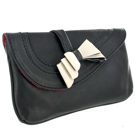 Marta Jonsson - Black leather clutch bag