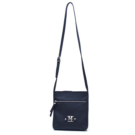 Marta Jonsson - Navy leather across body bag