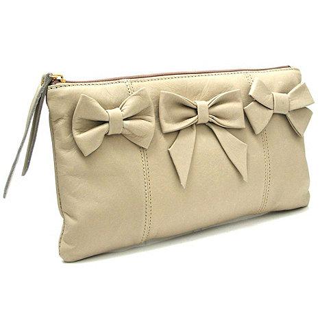 Marta Jonsson - Beige leather clutch bag