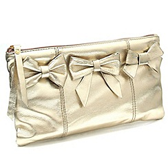 Marta Jonsson - Gold leather clutch bag